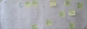 Storyboard for the interface (initial phase)